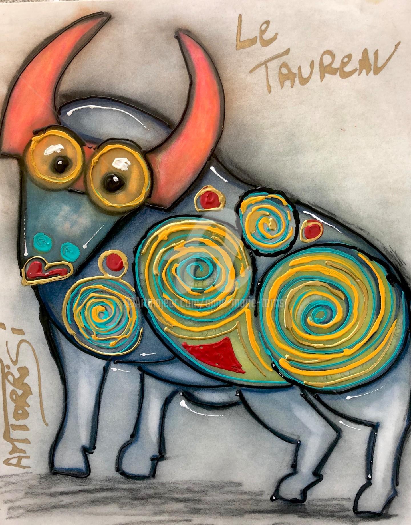 Anne Marie Torrisi - LE TAUREAU pastel