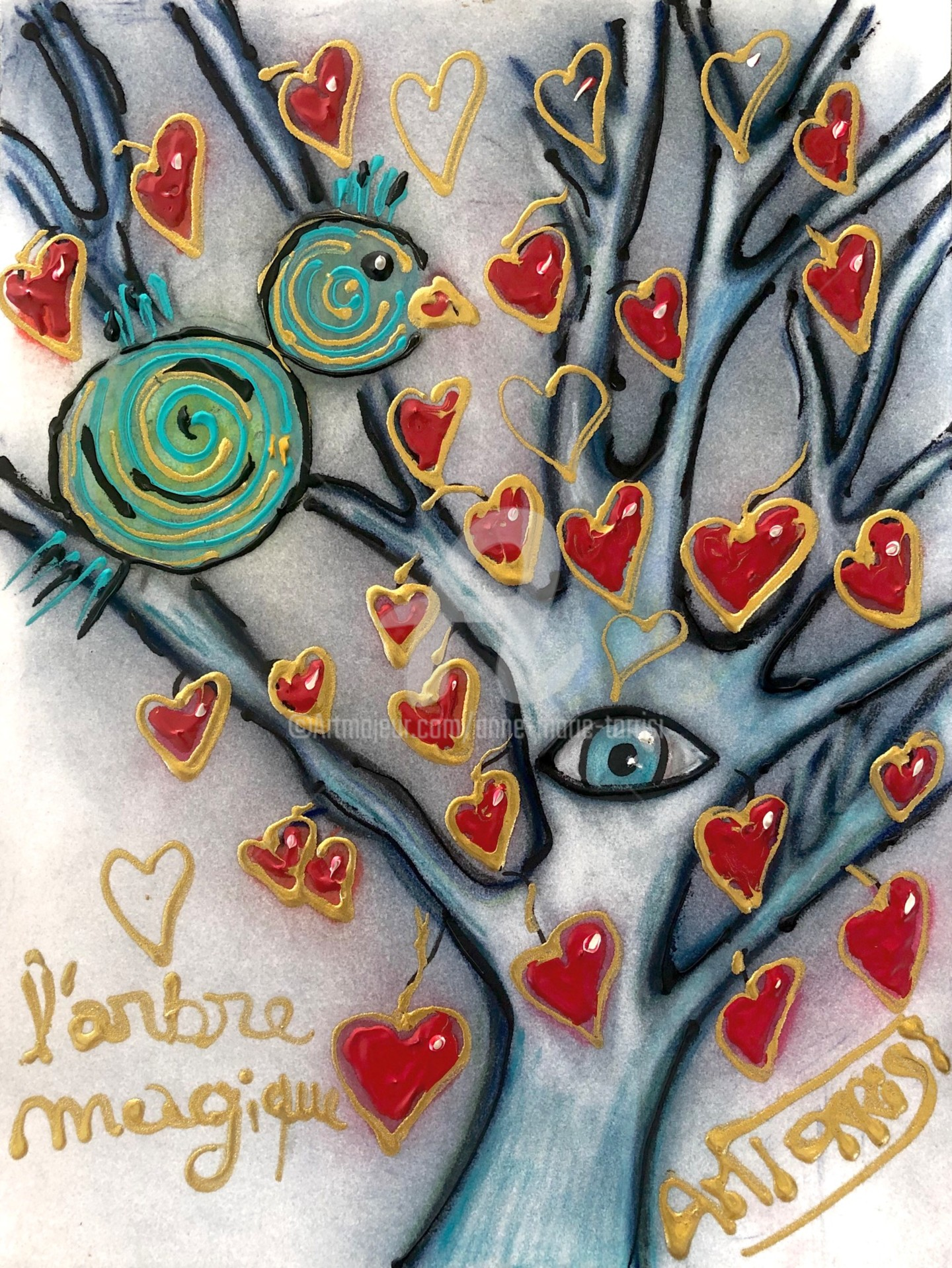 Anne Marie Torrisi - L'ARBRE MAGIQUE dessin