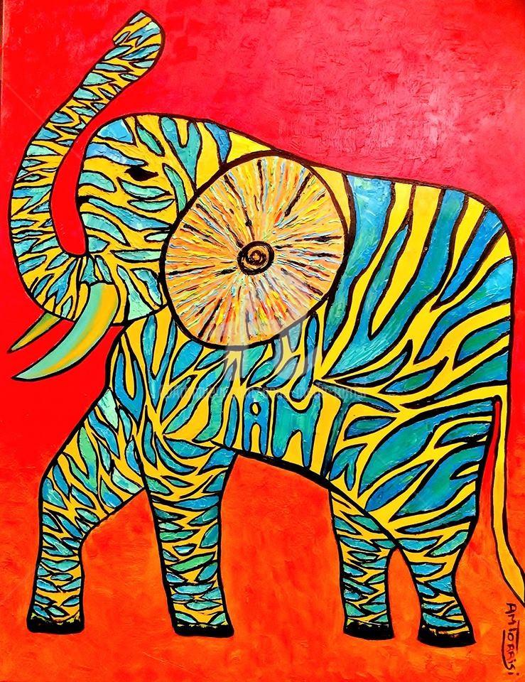 Anne Marie Torrisi - l'éléphant zébré (dans la peau d'un autre)